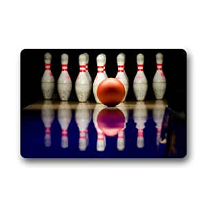 Bowling Bowl Background Doormat/Gate Pad for outdoor,indoor,bathroom use!23.6inch(L) x 15.7inch(W)