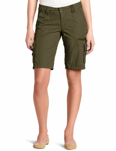 - Dickies Women's 11 Inch Relaxed Cargo Short, Grape Leaf Green, 4