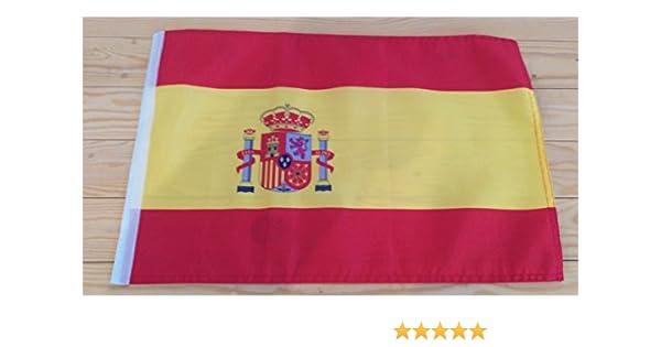 Bandera de España, 45 x 30 cm, por Silverbak Gifts: Amazon.es: Deportes y aire libre