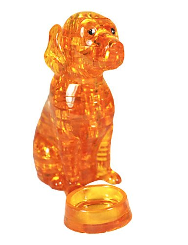 Aimitoysidy Puzzles 3D-Puzzles / Kristall-Puzzle Bausteine DIY Spielzeug Dog ABS Orange Model & Building Toy
