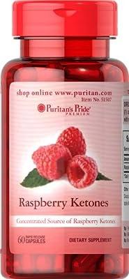 Puritan's Pride Raspberry Ketones 100 Mg 60 Capsules Single & Multi Packs
