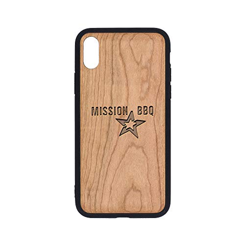 - Mission BBQ - iPhone Xs Case - Cherry Premium Slim & Lightweight Traveler Wooden Protective Phone Case - Unique, Stylish & Eco-Friendly - Designed for iPhone Xs