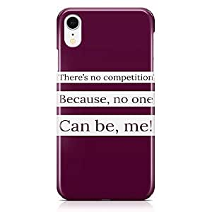 Loud Universe Phone Case For iPhone XR No Competition Phone Case Motivational Phone Case Myself 3D iPhone XR Cover