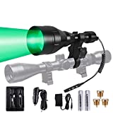 A9P 650 Yards Long Range Green Red White Infrared 850nm IR Dimmable Hunting Kit Scope Rifle Gun Mounted Kill Light Predator Night Torch Zoomable Tactical Flashlight for Coon Coyote Hog Fox Varmint