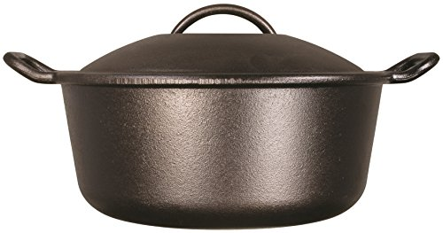 Lodge Pro-Logic 4 Quart Cast Iron Dutch Oven. Pre-Seasoned Pot with Self-Basting Lid and Easy Grip Handles by Lodge (Image #1)