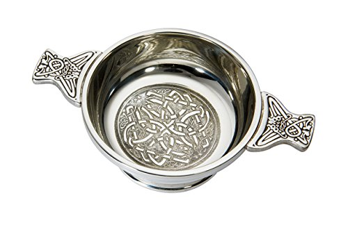 Wentworth Pewter - Medium Celtic Circle Pewter Quaich Whisky Tasting Bowl Loving Cup Burns (Medium Celtic Circle)