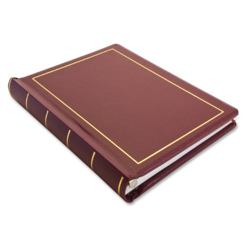 (Wilson Jones 0396-11 Looseleaf Minute Book, Red Leather-Like Cover, 125 Pages, 8 1/2 x 11 Inches)