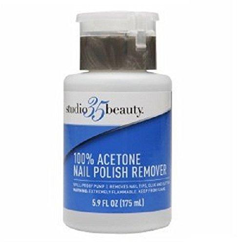 Studio 35 Nail Polish Remover Pump, 100% Acetone 5.9 fl oz