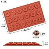 Funshowcase Mini Donut Silicone Mold 18 Cavity