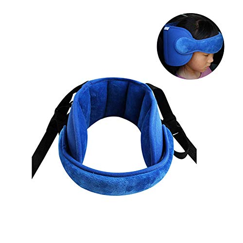 StoHua Adjustable Child Car Seat Head Support Band, Head Support A Comfortable Safe Sleep Solution,Blue Head Support Belt (Sleep Head Support)