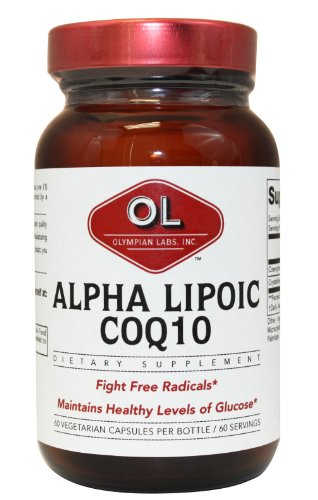 Olympian Labs 100mg of Coq10 and 100mg of Alpha Lipoic Acid