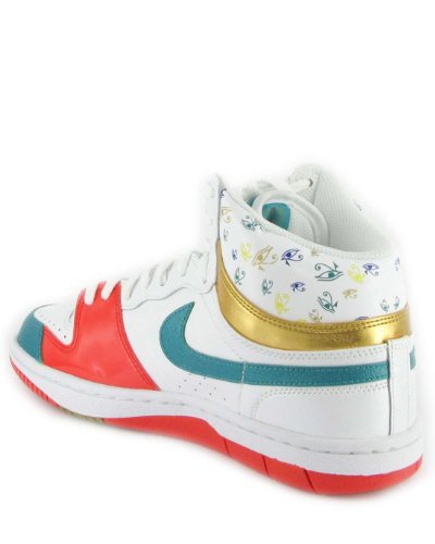 Nike - Wmns Court Force High - Color: Blanco-Naranja-Verde claro - Size: 38.5