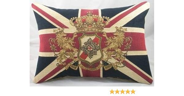 Homestreet Bandera de Reino Unido León cojín – Calidad Bandera de Tapiz Cojines 18 x 13 cm: Amazon.es: Hogar