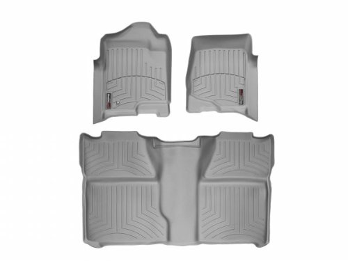 WeatherTech - 46066-1-0 - 2008 - 2012 Chevrolet Silverado Grey 1st & 2nd Row FloorLiner ()