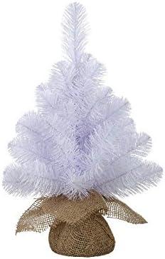 Black Box Mini Árbol de Norton Artificial En Saco de Yute Color Blanco 45 cm, 40 Ramas – Árbol de Navidad pequeño – Navidad – árbol de Navidad Artificial: Amazon.es: Juguetes y juegos
