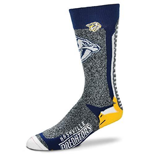 For Bare Feet Men's NHL-Downtown Crew Socks (Nashville Predators, Large) ()