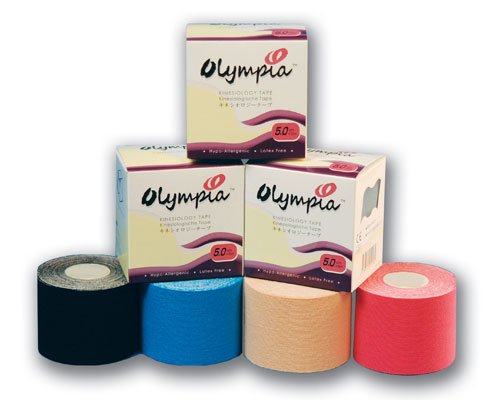 Olympia Kinesiology Tape -Beige, Blue, Black or Pink- please specify color(One Roll, 5cm Wide X 5m Long)