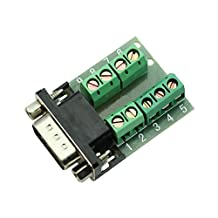SODIAL(R) RS232 Serial to Terminal DB9 Male Adapter Connector Signals Terminal Module