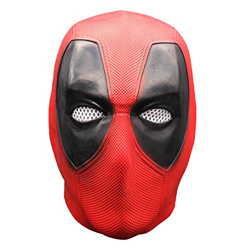 Skull Wade Mask Full Head Latex - Scary Halloween Mask Helmet Movie Vesion Costume Men&Women - Horror Zombie Demon Mask for Guy Fawkes Rave Discos Masquerades Carnival Festivals Vendetta Theme Parties