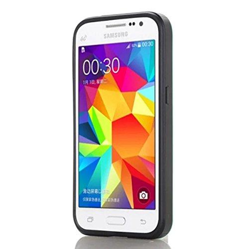 Samsung Galaxy Grand Prime G530 Funda, adorehouse Billetera Estuche Case [Anti Scratch] [Heavy Duty] [Ranura para tarjetas] Dual Layer Hybrid Rubber Bumper Funda protectora para Samsung Galaxy Grand P Menta Verde