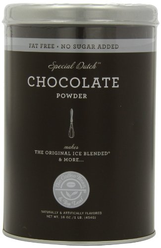The Coffee Bean & Tea Leaf No Sugar Added Chocolate Powder, 16-Ounce Containers (Mess of 3)