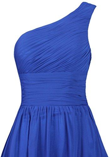 Dress Chiffon Evening Shoulder One Bridesmaid Women's Dresses Short ANTS Brown 504x81S