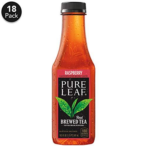Pure Leaf Iced Tea, Raspberry, Sweetened, Real Brewed Black Tea, 18.5  Fl. Oz Bottles (Pack of 12)