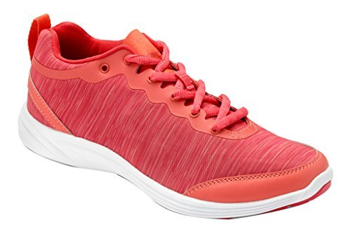 Vionic Con Tecnologia Orthaheel Womens Fyn Lace Up Sneaker Deep Sea Coral