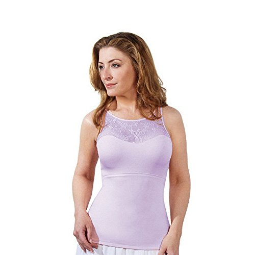 Spanx Hide and Sleek Lace Bateau Camisole 1503 QVC A214290, Lilac, L