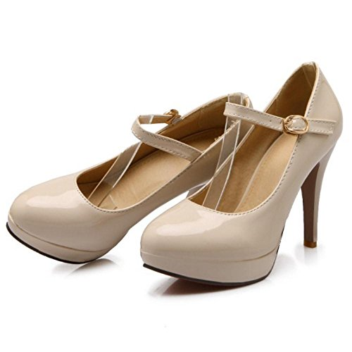 TAOFFEN Women's Court Elegant Stiletto Shoes apricot rrPdwx