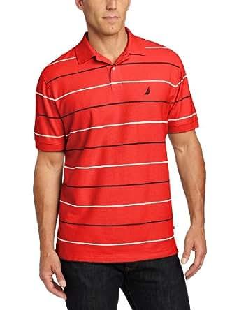 Nautica Men's FCA Striped Deck Short Sleeve Polo Shirt at