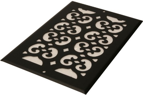 Decor Grates S614R 6-Inch by 14-Inch Painted Return Air, Black Textured