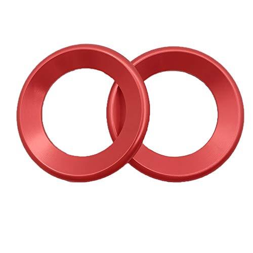 Door Audio Speaker Rings Aluminum Alloy Audio Speaker Ring Cover Trim Fit for Honda Civic 2016 2017 2018 2019 10th Gen