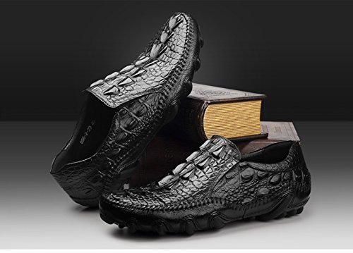 Quotidiennes Hommes Confortables Douces Black Chaussures Décontractées GRRONG Chaussures Et Pour wXOCq8
