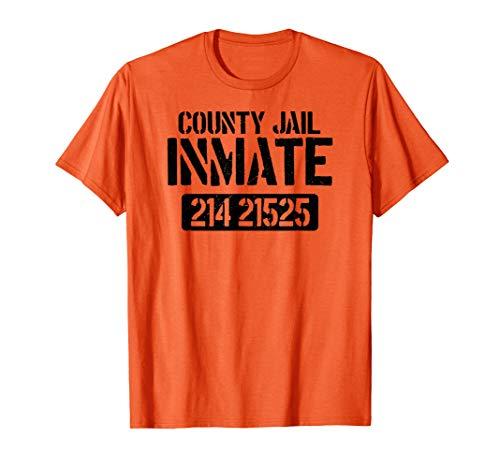 Prisoner County Jail Inmate Halloween Men Costume -