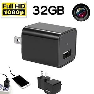 [Updated] Hidden spy camera HD 1080P 32GB internal memory - USB charger home spy surveillance Nanny Camcorder
