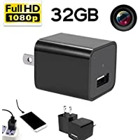 [Updated] Hidden spy camera HD 1080P 32GB internal memory - USB charger home spy surveillance Nanny Camcorder