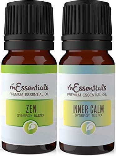 mEssentials Inner Calm and Zen Essential Oil Blend Combo Two 10 ml Bottles
