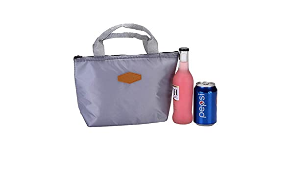 Portable Travel Picnic Lunch Tote Bag Waterproof Insulated Cooler Linen Bag Case
