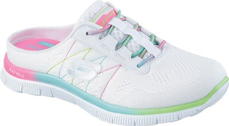 Skechers Women's Flex Appeal Magic Ombre Clog Sneaker,White