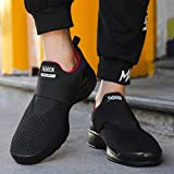 Christmas Deals! Teresamoon Men Fashion Letter Solid Elastic Running Sport Flat Ankle Round Toe Casual Shoes