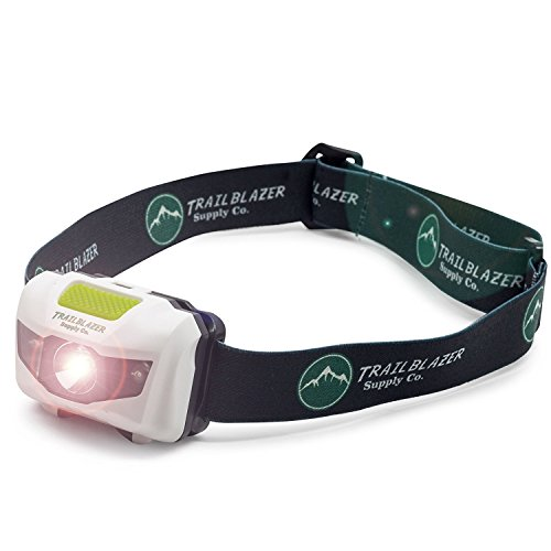 LED Headlamp - For Running, Camping, Reading, Fishing, Hunting, Dog Walking, Hiking, Biking Trails, and Kids - Bright 300 Lumens, Lightweight, Waterproof, Red and Strobe Flashlight, w/ AAA Batteries