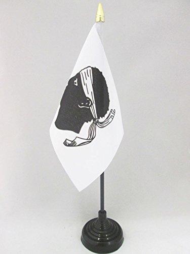 AZ FLAG Drapeau DE Table Corse 15x10cm - Petit Drapeaux DE Bureau Province Corse 10 x 15 cm Pointe dorée