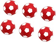 DYNWAVE 6 Pieces Table Soccer Foosballs Replacements 1.25 inch/32mm Soccer Balls for Foosball Table Game Foosb