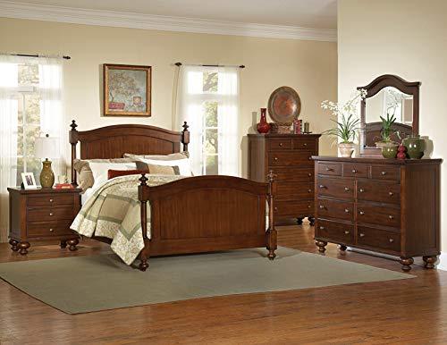 (Sunset Trading HE-1422-Q-BED-SET Royal Cherry Bedroom Set, Warm)
