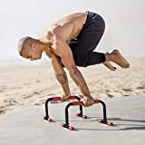 RubberBanditz Lightweight Parallettes Pushup Bars – For CrossFit, Gymnastics, Calisthenics Bodyweight Training Workouts – Upper Body Home Exercise Equipment – Perfect Push Up Stand + Dip Bar Accessory