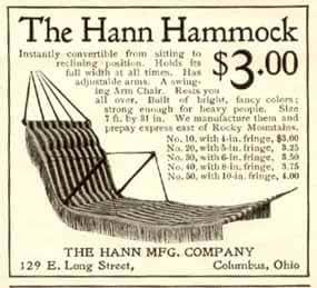 Amazon Com 1900 Columbus Ohio Ad For The Hann Hammock