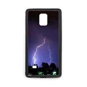Dustin Lightning Samsung Galaxy Note 4 Cases Lightning Bolt, Lightning [Black]