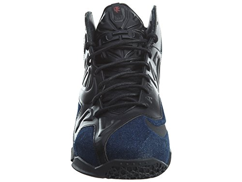 Nike Lebron Xi Ext Denim Qs 659509 004 Basketbalschoenen Zwart / Denim Heren Zwart / Zwart-denim