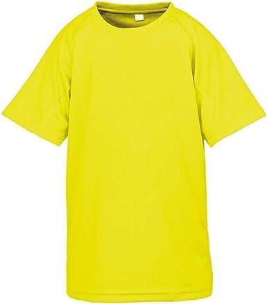 Spiro - Camiseta Deportiva Modelo Impact Performance Aircool para niños y niñas: Amazon.es: Ropa y accesorios